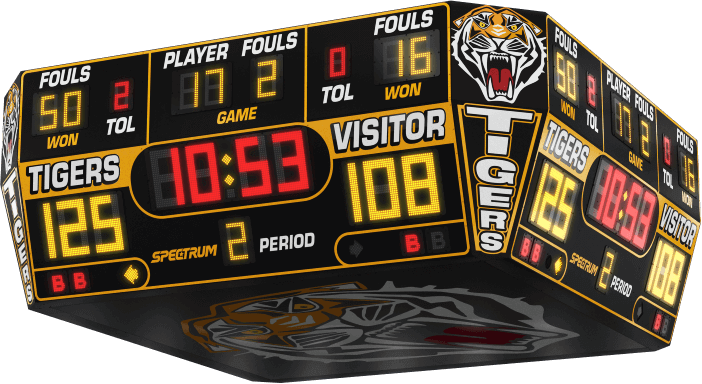 High School Gymnasium Scoreboards